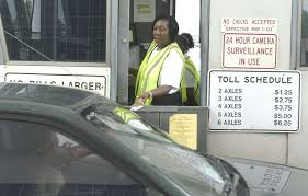 toll booth lady